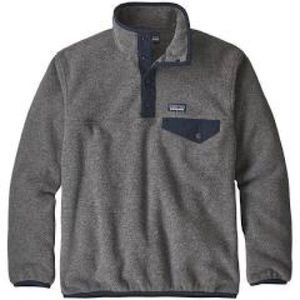 Patagonia grey with navy synchilla pullover